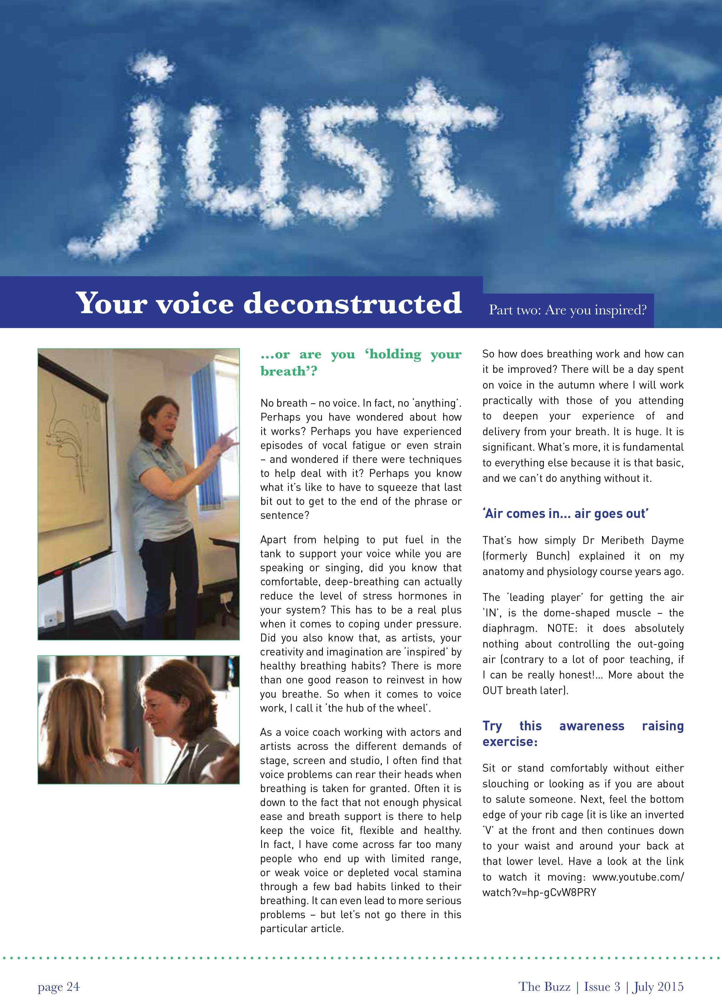 Your Voice Deconstructed – Part 2 Article